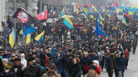 Saakashvili supporters march against Ukrainian president