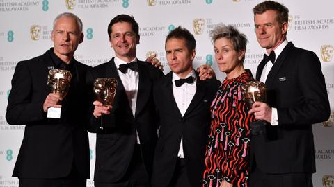 'Three Billboards' tops Bafta awards
