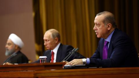 Erdogan discusses Afrin operation, Idlib de-escalation zone with Putin