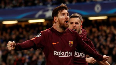 Messi scores against Chelsea at ninth attempt, salvaging 1-1 draw