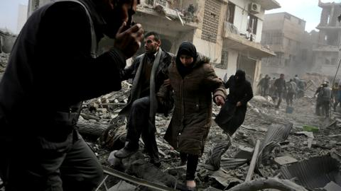 Eastern Ghouta residents 'wait to die' as Syrian regime bombing continues