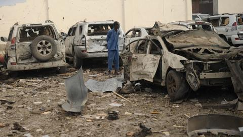 Death toll rises to 38 in Mogadishu twin bombings