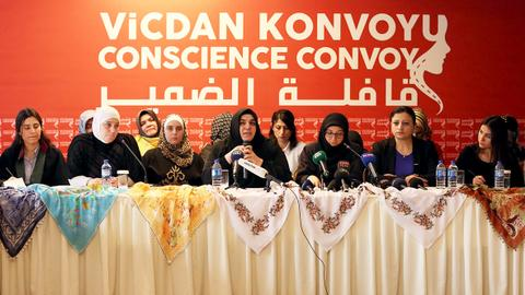 Turkey's all-women convoy to speak out for Syrian women