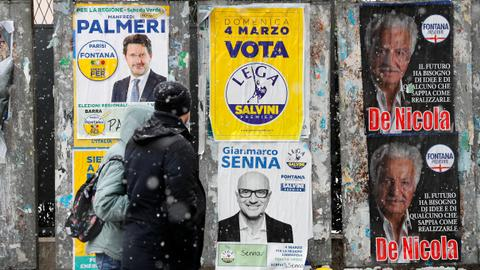 Italy heads to polls with centre-right ahead but stalemate likely
