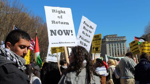 Pro-Palestinians protest in Washington as AIPAC conference begins