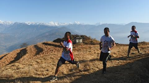 Nepal's marathon monks trade robes for running shoes