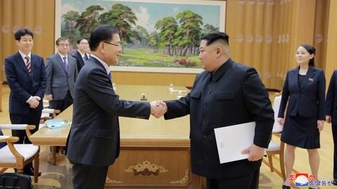 North Korea's Kim Jong-un and Seoul envoys have 'open-hearted talk'