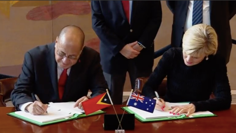 East Timor and Australia sign deal on maritime border