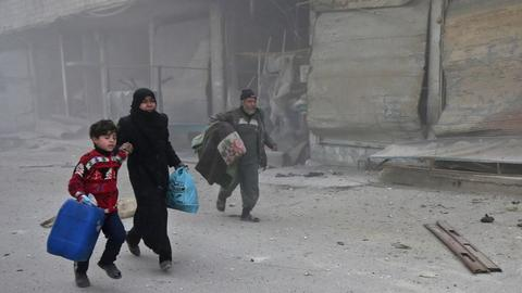 Syrian regime forces effectively cut eastern Ghouta in half - war monitor
