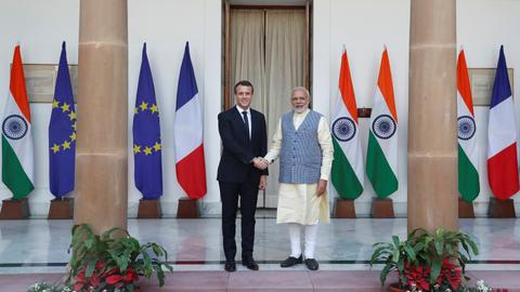 France, India sign deals worth $16B on first day of Macron visit