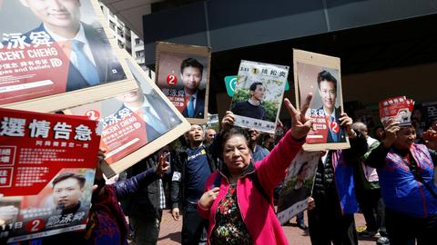 Election tests Hong Kong's stomach for defying Beijing