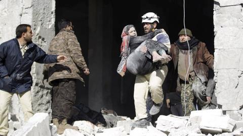 Russian air strikes kill at least five in Syria's Idlib province