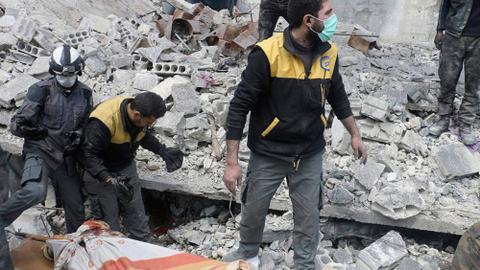 Mass destruction as bombs fall on Syria's eastern Ghouta