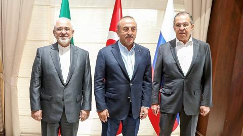 Foreign ministers of Turkey, Russia and Iran gather for Syria talks