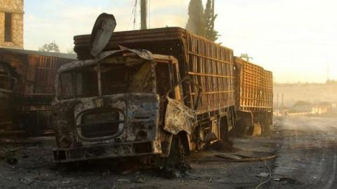 US and Russia trade accusations over Syria aid convoy attack