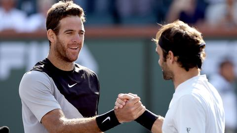 Del Potro ends Federer's streak to win Indian Wells title