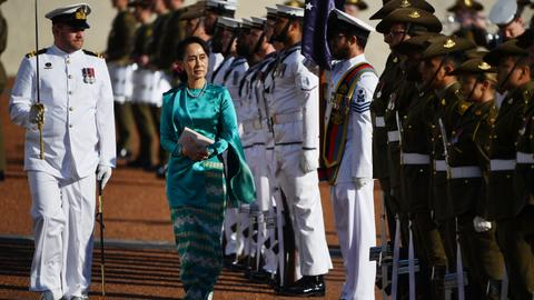 Myanmar's Suu Kyi cancels speech at think-tank event in Australia