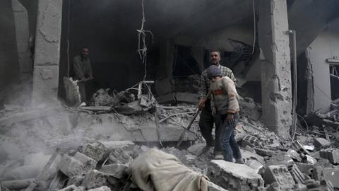 Fresh regime bombardment kills at least 20 in Syria's eastern Ghouta