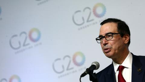 Mnuchin says US is not afraid of getting into a trade war after G20 summit