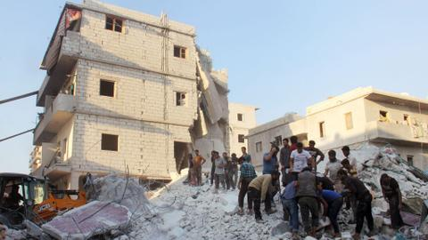 Russian strikes kill at least 42 civilians in Syria's Idlib province