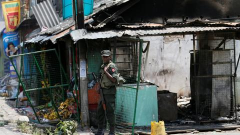 Police and politicians accused of joining Sri Lanka's anti-Muslim riots