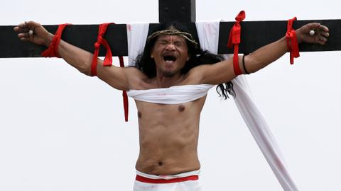 Filipinos mark Good Friday with crucifixions, floggings