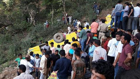 At least 30 people, including 27 children, killed in India bus crash
