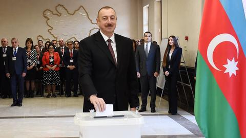 Azerbaijan's Aliyev set to win barely contested presidential election