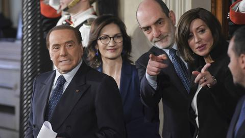 Italian parties spar over Berlusconi as government talks begin