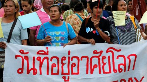 Protesters in Thailand urge junta to respect land rights