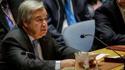 UN chief says Syria tensions could spark 'full-blown military escalation'