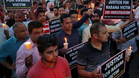 Eight go on trial in India for rape, murder of Kashmir girl