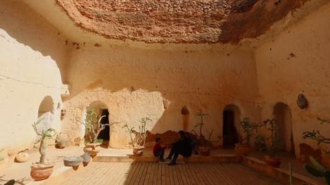 Libya's dwindling number of traditional pit houses