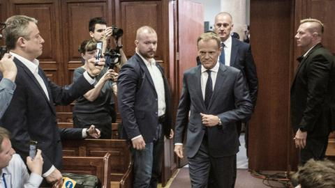 EU's Tusk testifies in Poland over president's plane crash