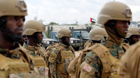 Rival groups from Somali army clash at former UAE training facility