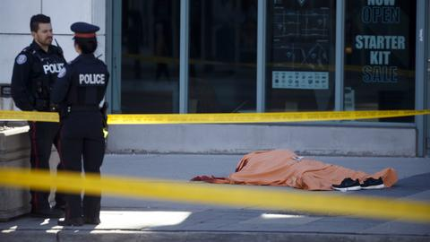 Ten killed in Toronto as van hits pedestrians