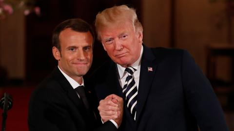 Macron, Trump call for new nuclear deal with Iran