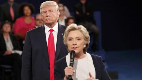 Trump shows his nasty side in insult-filled second debate
