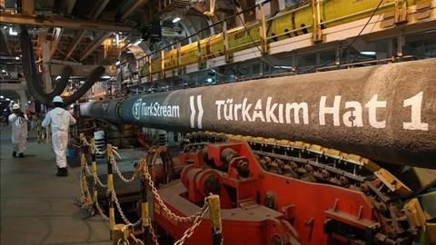 Russia's Gazprom says sea portion of TurkStream's first line completed