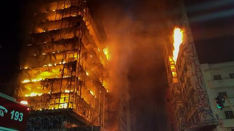49 missing in Sao Paulo blaze building collapse, firefighters say