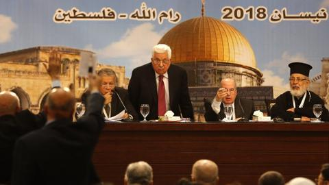 Palestinian leader Mahmoud Abbas re-elected as PLO chief