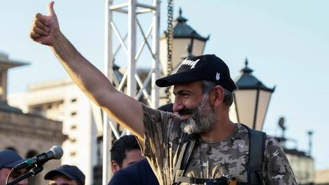 Thousands celebrate as Armenia's Pashinyan elected PM