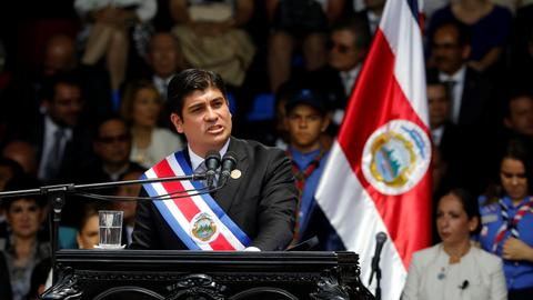 Carlos Alvarado sworn in as Costa Rica's new president