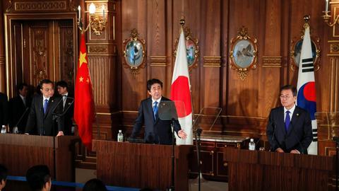 China, Japan and South Korea unite to co-operate on North Korea