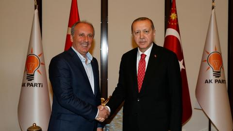 Erdogan receives opposition CHP presidential candidate