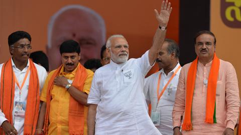 India's Modi fights to capture southern Indian state