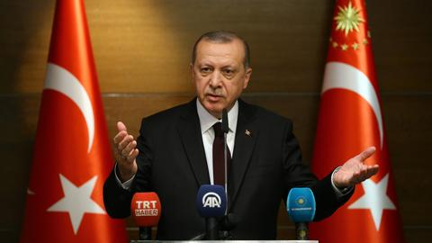 Turkish president condemns 'humanitarian tragedy' in Gaza