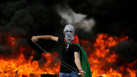 Tensions high in West Bank as Israeli forces fire tear gas on Palestinians