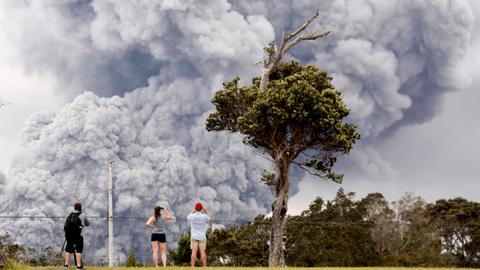 'Ballistic blocks' shoot from Hawaii volcano