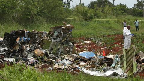Airliner with 110 aboard crashes in Cuba, 3 said to survive
